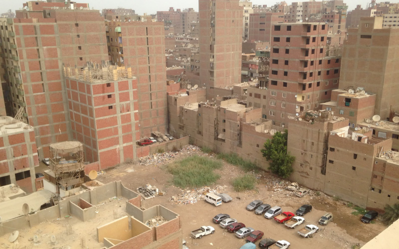 A typical informal housing block in Giza
