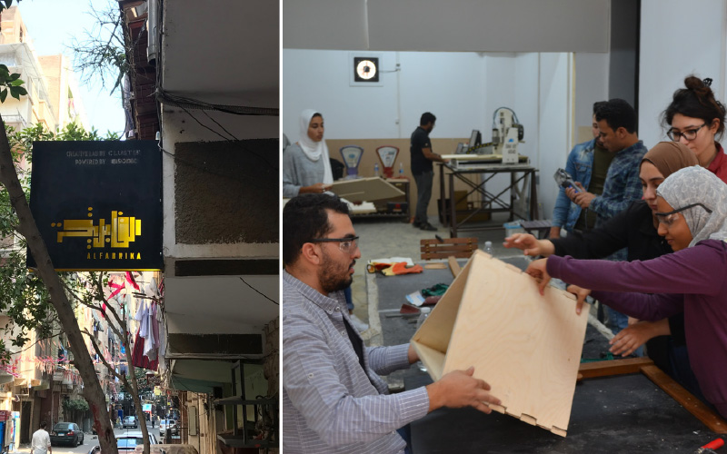 CLUSTER's ALFABRIKA creative lab in the neighborhood of Ard al-Liwa as a space of encounter between design students and local craftspeople